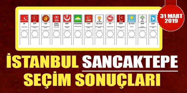 Sancaktepeyerel seçim sonuçları 2019 | Sancaktepe belediye seçim sonuçları | Cumhur ittifakı Millet ittifakı oy oranları
