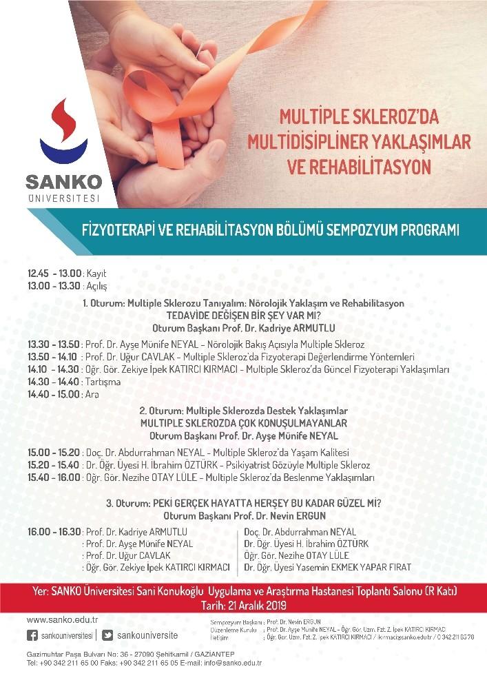 SANKO Üniversitesi'nde bilimsel toplantı
