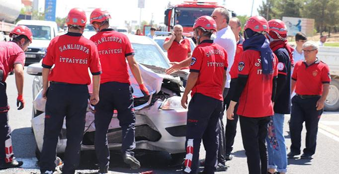 Şanlıurfa'da trafik kazası: 2 kişi yaralı