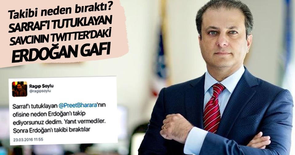 Sarraf'ı tutuklayan savcının Twitter'daki Erdoğan gafı