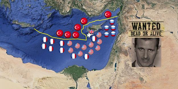 Savaş kapıda! Son harita yayınlandı: ABD, Fransa, İsrail...
