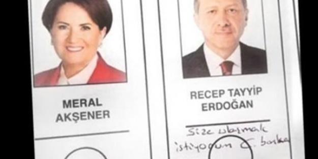 Seçim pusulasında Cumhurbaşkanı Erdoğan'a not yazdı