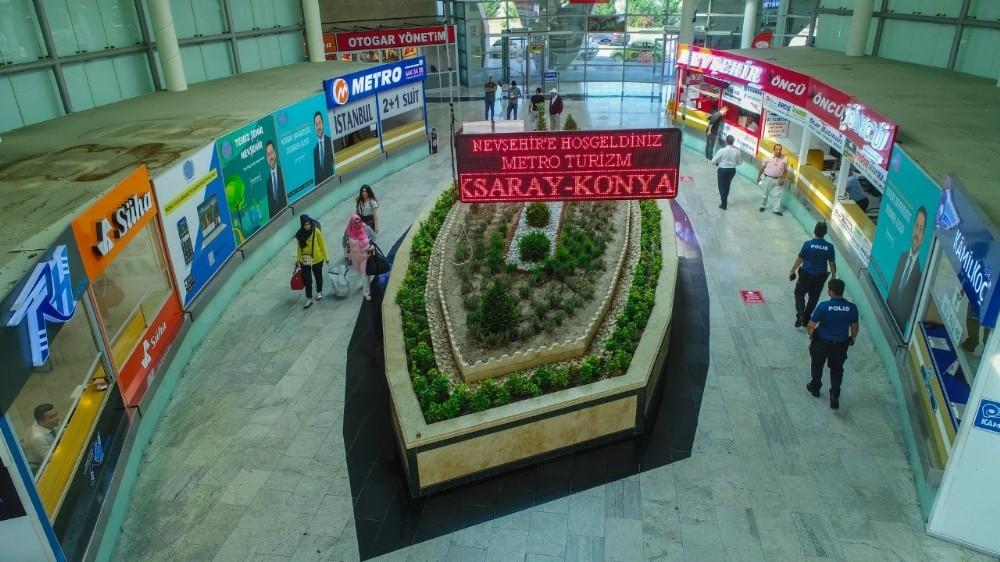 Şehirlerarası otobüs terminalinde iyileştirme çalışmaları ile yenileniyor