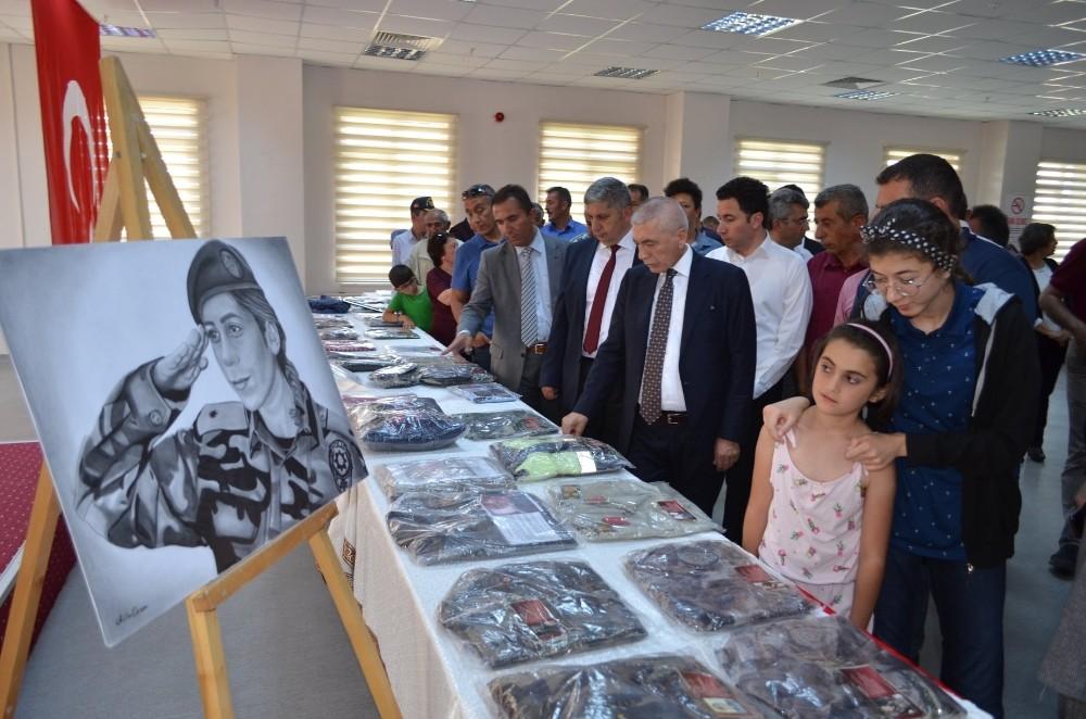 Şehit emanetleri Bünyan'da sergileniyor