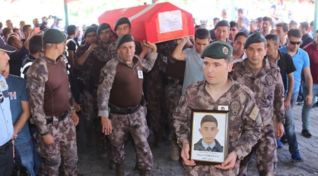 Şehit özel harekatçı Sinan Türkoğlu son yolculuğuna uğurlandı