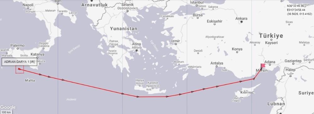 Serbest bırakılan İran tankeri yönünü Türkiye'ye çevirdi