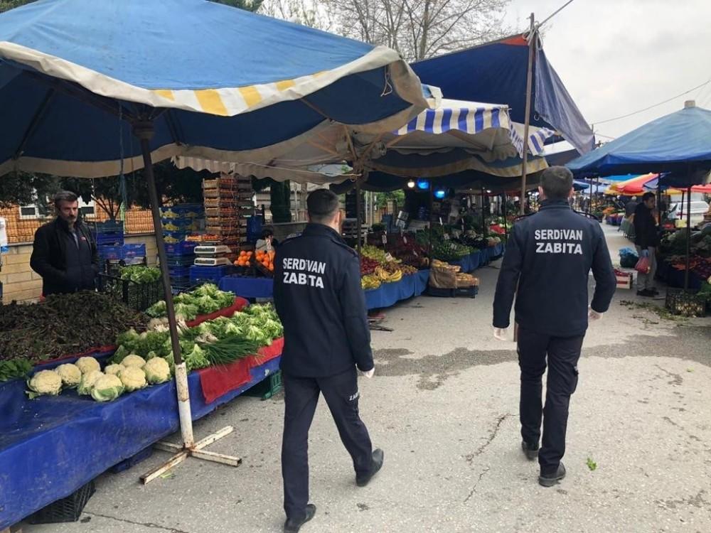 Serdivan Belediyesinden pazar yerlerine sıkı denetim