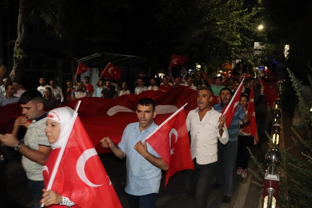 """Siirt'te """"15 Temmuz Demokrasi ve Milli Birlik Günü"""" etkinliği"""