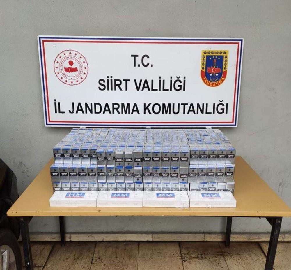 Siirt'te bin 480 paket kaçak sigara ele geçirildi