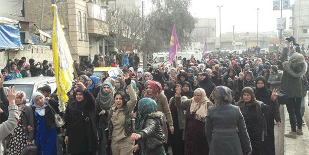 Afrin'de silahlı teröristler bu görüntüyü verdi… Panik!