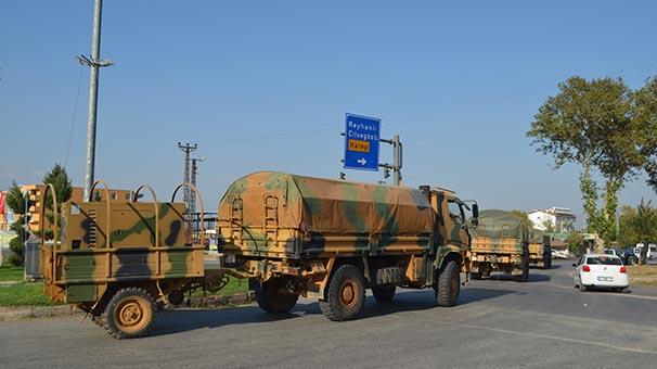 Sınır birliklerine askeri sevkiyat devam ediyor