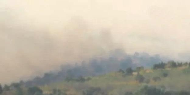 Sınırda korkutan yangın