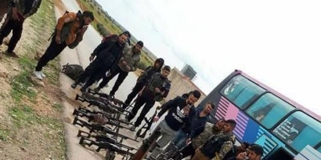 Sınırda şok görüntü! PKK'ya desteğe gittiler