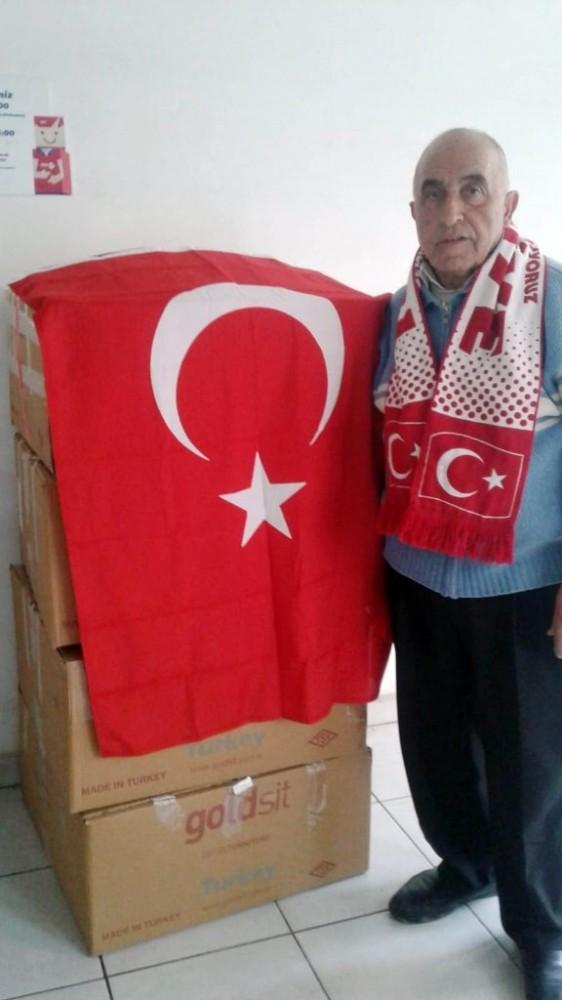Sinoplu köylülerden depremzedelere yardım