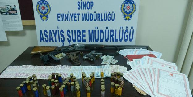 Sinop'ta tefeci operasyonu: 5 gözaltı