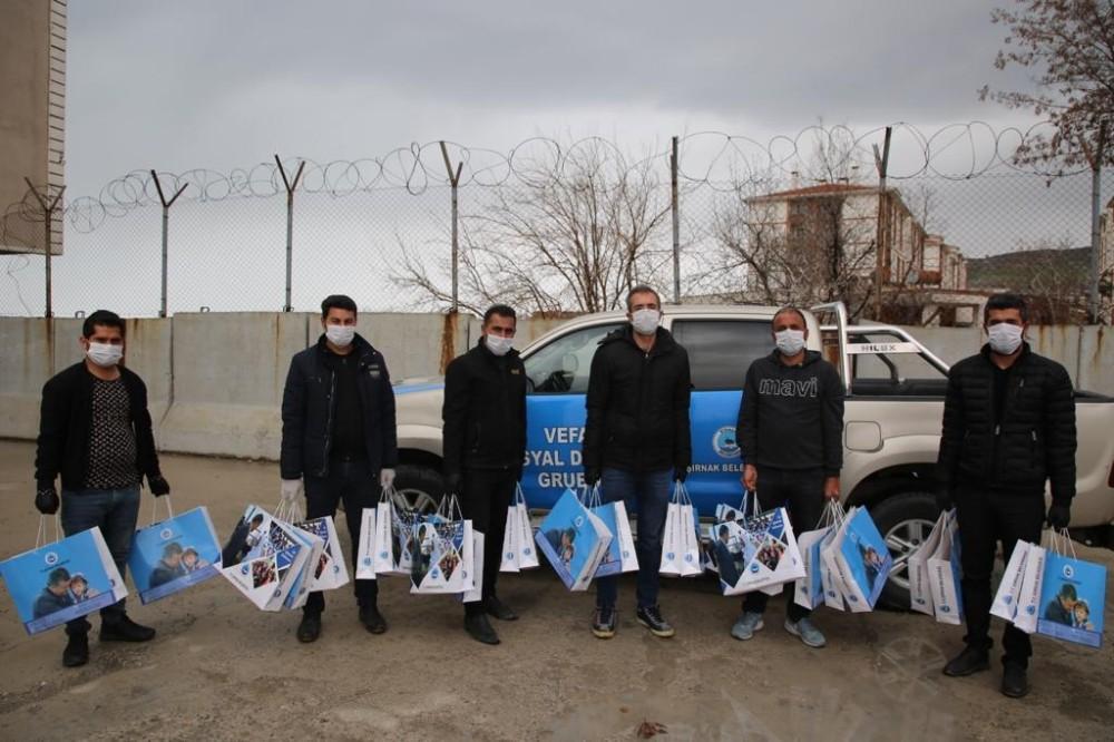Şırnak'ta gazetecilere hijyen malzemeleri dağıtıldı
