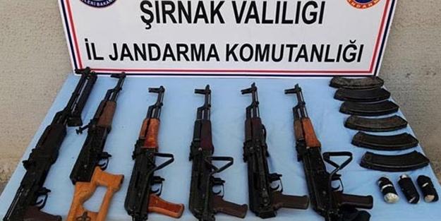 Şırnak'ta terör operasyonu! Çok sayıda silah ve mühimmat ele geçirildi