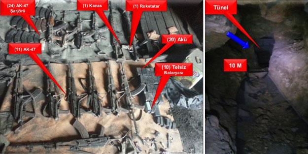 Şırnak'ta tüneller bulundu