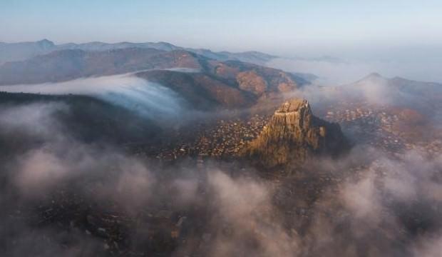 Sisler içindeki Afyonkarahisar'dan muhteşem manzaralar