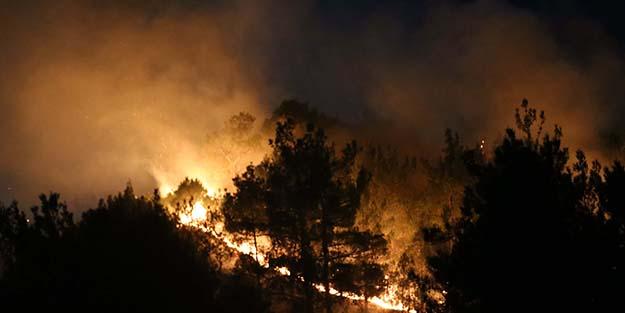 O ilimizdeki orman yangını saatler sonra kontrol altına alınabildi