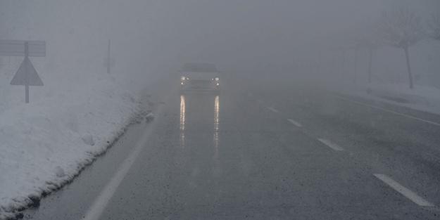 Sivas'ın kar yağışı ve sis yaşamı olumsuz etkiliyor!