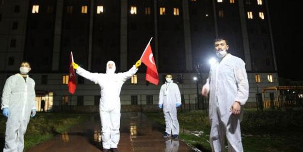 Sivas'ta karantina altındaki öğrencilere moral etkinliği