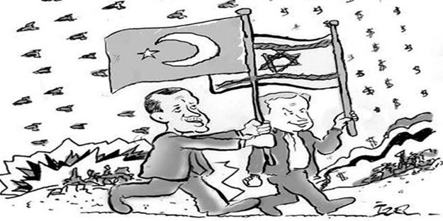 Siyonist gazete Şalom'dan Erdoğan ve Netanyahu'lu karikatür!