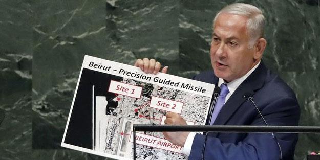 Siyonist Netanyahu Lübnan'ı tehdit etmişti