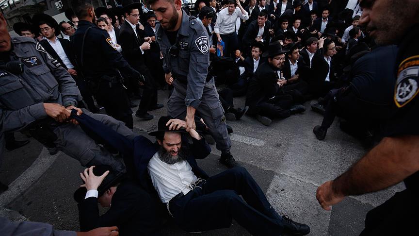 Siyonist rejimden Ultra-Ortodoks Yahudilere sert müdahale