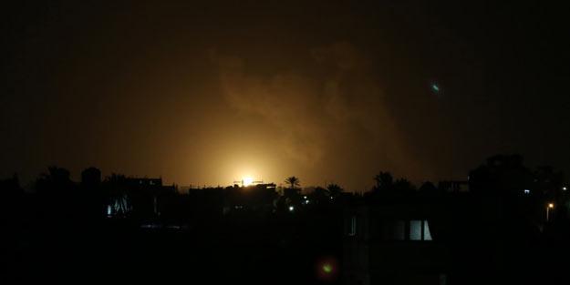 Siyonistler durmuyor! Gazze'ye yine saldırdılar