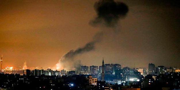 Siyonistler Gazze'ye saldırdı! Bir savaş uçağı ağır hasar aldı