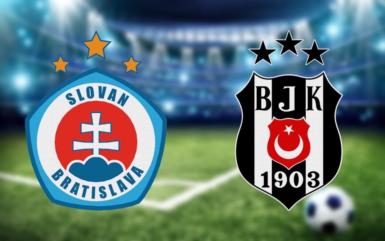 Slovan Bratislava Beşiktaş maçı ilk 11'leri