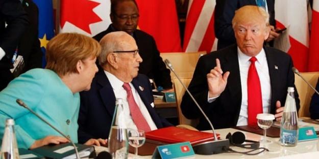 Şoke eden kavga: Trump ile Merkel birbirine girdi!