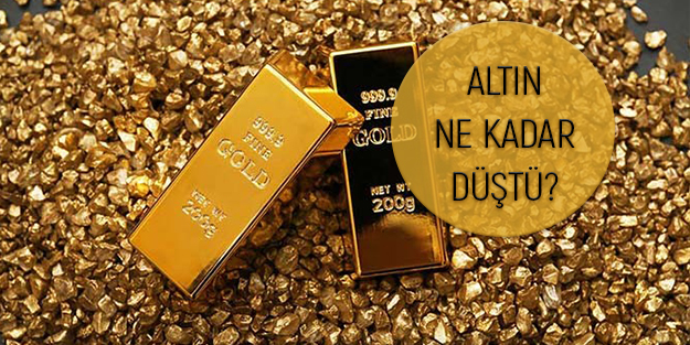 Son dakika altın fiyatları | Bugün altın fiyatları ne kadar düştü?