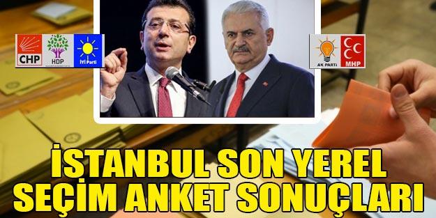 Son İstanbul yerel seçim 2019 anket sonuçları | 23 Haziran AK Parti CHP ne kadar oy alıyor?
