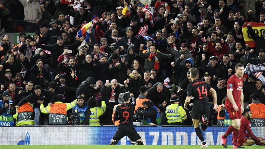 Son şampiyon Liverpool'u eleyen Atletico Madrid çeyrek finalde