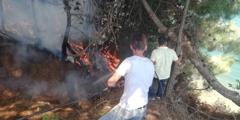 Sorumsuz piknikçiler orman yangınına sebep oldu