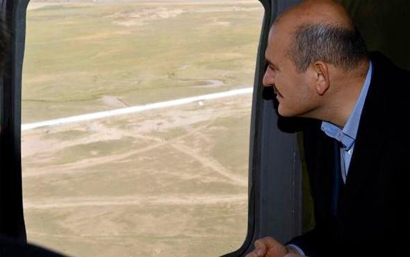 Soylu Türkiye-İran sınırındaki güvenlik duvarını inceledi