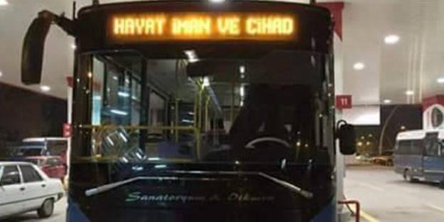 Sözcü, belediye otobüsünü görünce çıldırdı