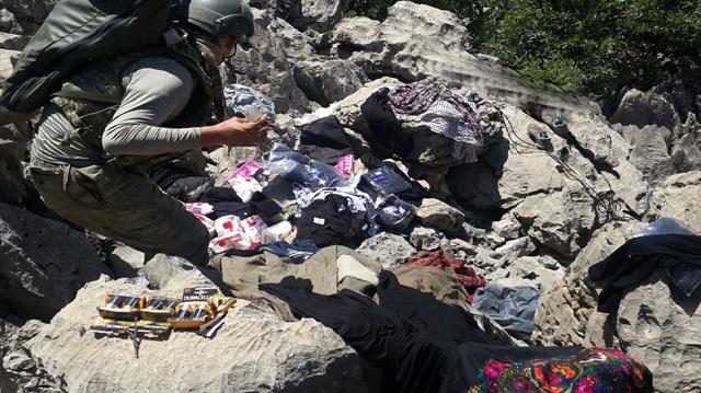 Sözde PKK mezarlığından bunlar çıktı