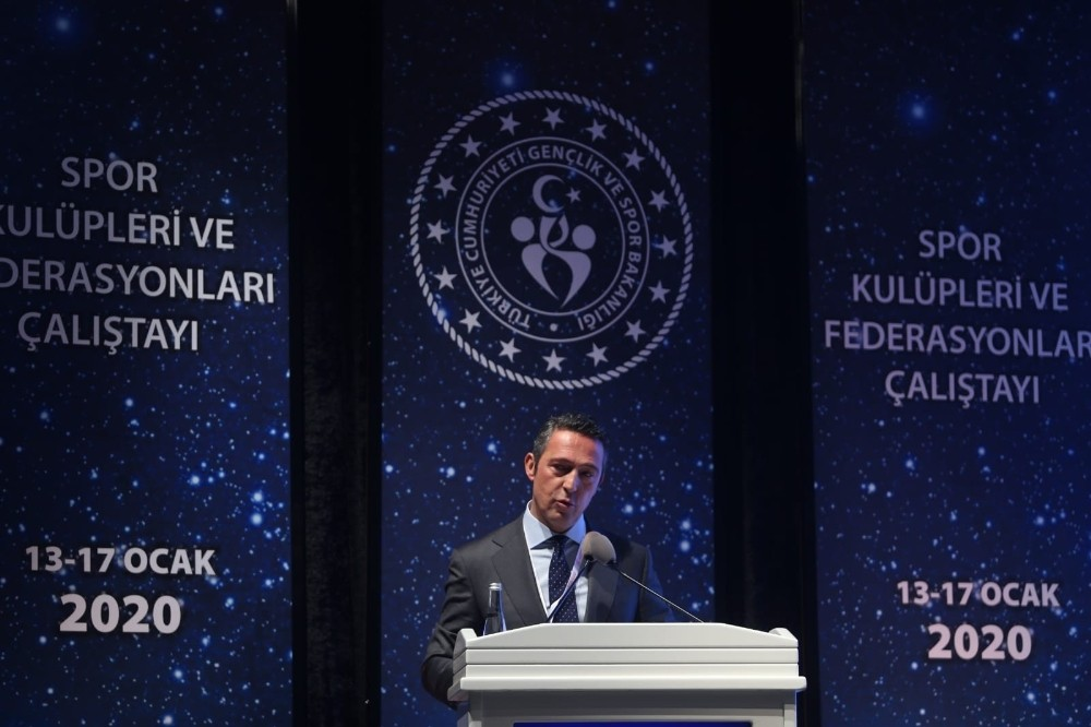 Spor Kulüpleri ve Federasyonları Çalıştayı'nda Ali Koç'tan Türk futbolunun sorunları ve çözüm önerileri
