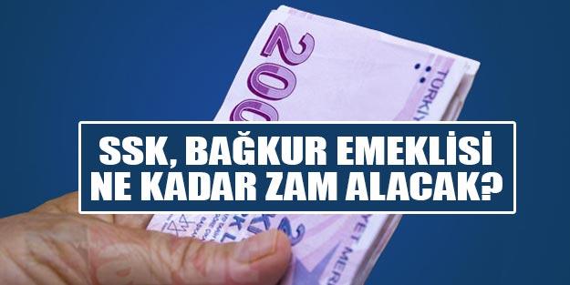 SSK Bağkur emekli zammı 2020