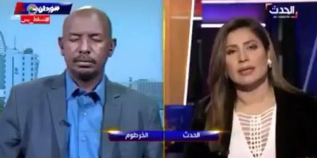 Sudanlı gazeteci canlı yayında horlamaya başladı
