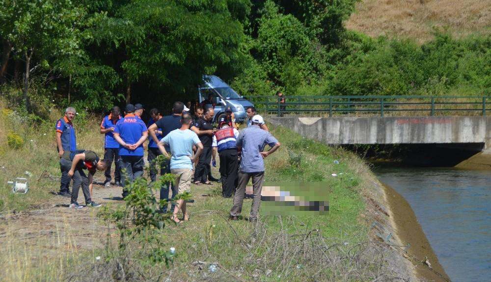 Sulama kanalına düşen şahıs boğuldu