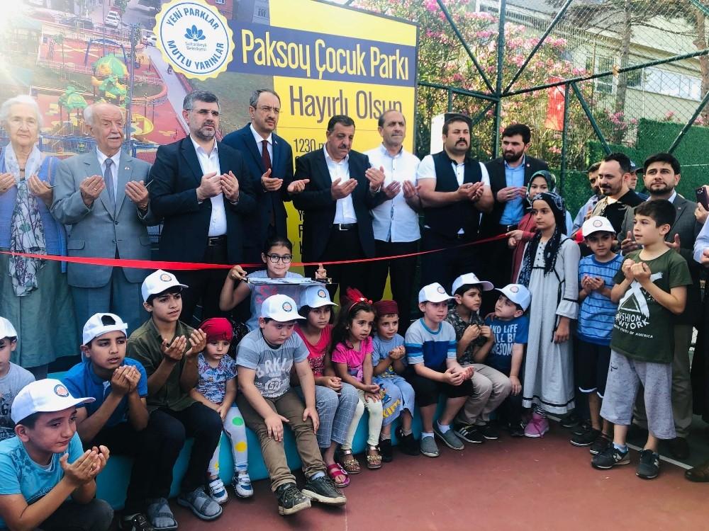 Sulatanbeyli'nde Paksoy Parkı hizmete açıldı