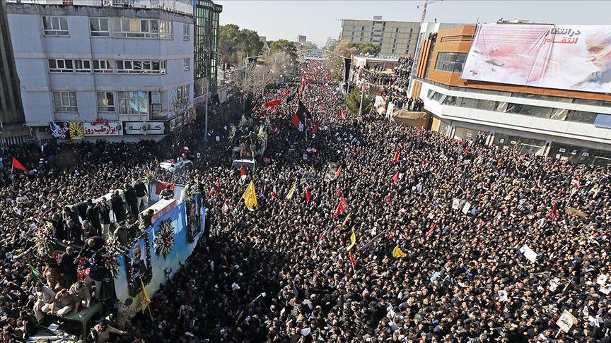 Süleymani'nin cenaze töreninde izdiham: 35 ölü, 48 yaralı
