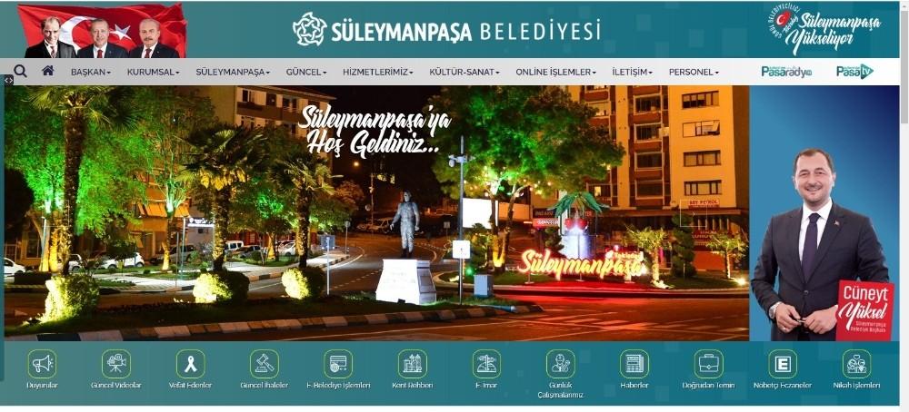 Süleymanpaşa Belediyesinin yeni web sitesi yayında