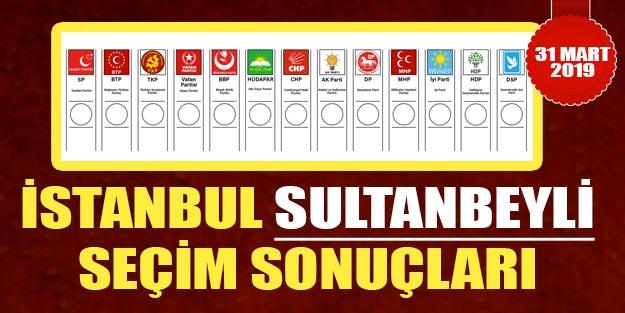 Sultanbeyli seçim sonuçları 2019 | Sultanbeyli 31 Mart yerel seçim sonuçları Cumhur ittifakı Millet ittifakı oy oranları