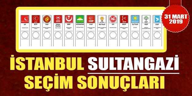 Sultangazi seçim sonuçları 2019 | İstanbul Sultangazi yerel seçim sonuçları Cumhur ittifakı Millet ittifakı oy oranları