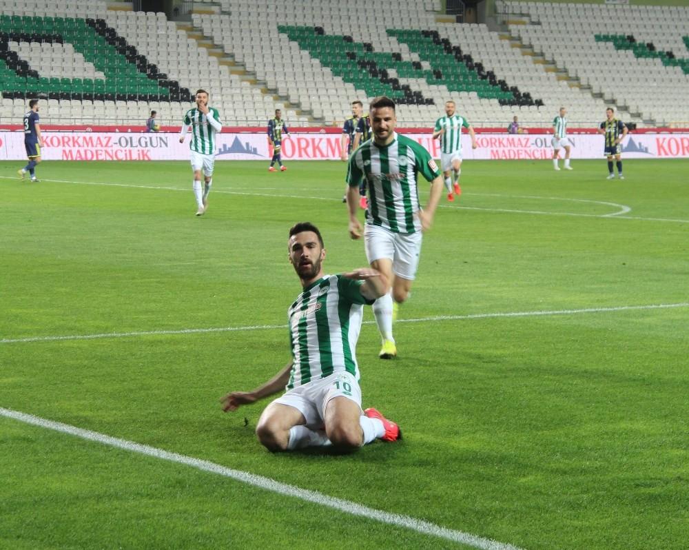 Süper Lig: Konyaspor: 1 - Fenerbahçe: 0 (İlk yarı)
